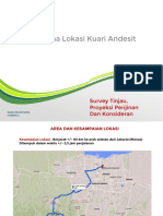 Survey Tinjau, Proyeksi Perijinan Dan Konsideran