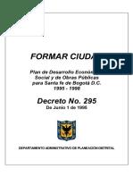 1995 1998 FormarCiudad a Plan Decreto295 1995