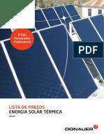 Lista de Preços - Energia Solar Térmica