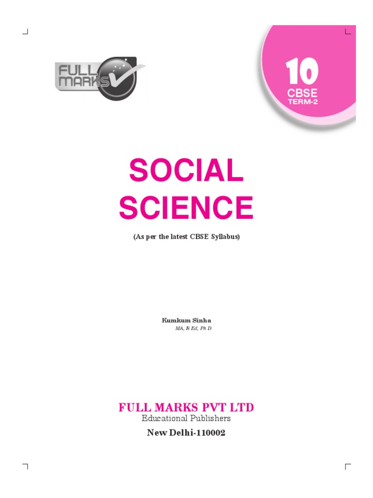 Evergreen Social Science Guide Class 10 Pdf