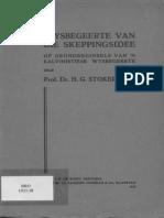 Hendrik Gerhardus Stoker - Die Wysbegeerte Van Die Skeppingsidee