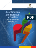 Justificativo Ingresos y Gastos 2013