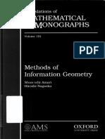 Amari, Nagaoka - Methods of Information Geometry