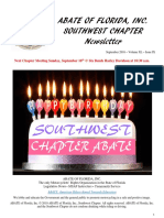 Southwest Chapter of ABATE of Florida September 2016