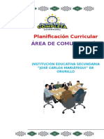 PLANIFICACIÓN CURRICULAR DEL ÁREA DE COMUNICACIÓN 2016.docx