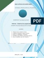 Informe (Sistema de Suspensión)