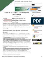 Client Server Network _ Advantages and Disadvantages _ I Answer 4 U