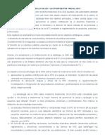 Cinco Grandes Objetivos de La Salud y Las Propuestas Para El 2013