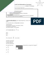 Prueba N3 Matemática Fracciones