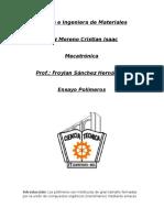 Ciencia e Ingeniera de Materiales Ensayo Polimeros