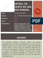 Control de Gradiente en Una Labor Minera