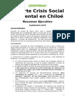 Informe de Greenpeace por marea roja en Chiloé