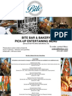 In-Store Pick-Up Platter Menu - Bite Bar & Bakery