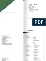 Historia de La Belleza - Umberto Eco