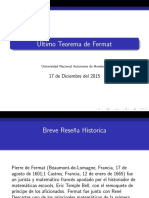 Presentacion Ultimo Teorema de Fermat