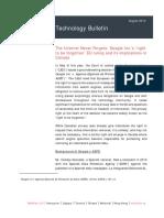 McMillan Technology Bulletin - Google Right to Be Forgotten