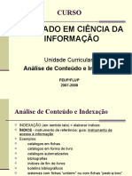 Analise de Conteudo e Indexacao