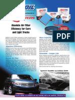 EaA Absolute Air Filters Data Bulletin