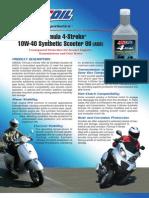 Formula 4-Stroke® Synthetic Scooter Oil Data Bulletin