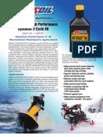 Interceptor 2-Cycle Oil Data Bulletin