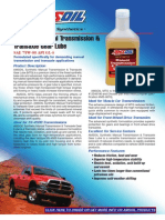 Manual Transmission & Transaxle G. Lube Data Bulletin