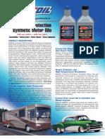 Premium Protection Synthetic Motor Oils (AMO & ARO)