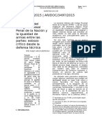 La reforma del Código Procesal Penal de la Nación y la igualdad de armas entre las partes