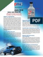 Series 3000 5W-30 Heavy Duty Diesel Oil Data Bulletin