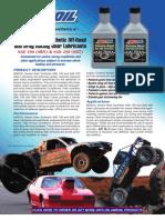 Severe Gear Syn SAE 190 & 250 Gear Lubes Data Bulletin