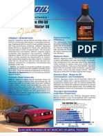 Signature Series 0W-30 Syn Motor Oil Data Bulletin