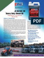 Synthetic 10W-30 SAE 30 Heavy Duty Diesel Oil
