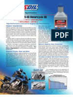 Synthetic 10W-40 Motorcycle Oil (MCF)