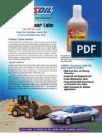 Synthetic 80W-90 Gear Lube Data Bulletin