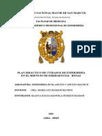 Plan Didáctico de La Rotacion de EMERGENCIA