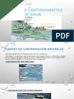 Fuentes de Contaminantes de Agua