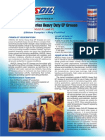 Synthetic Heavy Duty Grease Data Bulletin