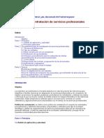 Manual Para Contratación de Servicios Profesionales.
