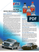 XL Motor Oils Data Bulletin
