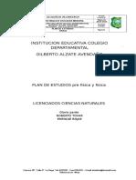 Plan de Estudios de Física 2015