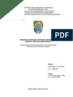 FUNCIÓN DOCENTE DEL PROFESOR UNIVERSITARIO DESDE EL ENFOQUE ANDRAGÓGICO