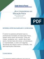 Bacharelado e Licenciatura Em Educação Física Slides