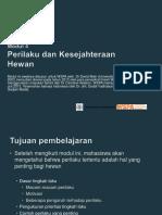 Modul 4 Ind M3 P Perilaku Dan Kesejahteraan Hewan