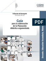 Guia Para La Elaboración de La Planeación Didáctica Argumentada