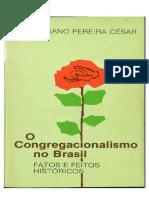 O Congregacionalismo No Brasil - Salustiano Pereira César