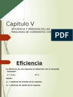 Cap 5 Eficiencia y Perdidas en Las Maquinas de Corrientes Continua