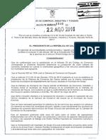 Decreto 1350 Del 22 de Agosto de 2016