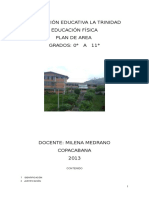 Plan de Area Ed. Física - 2013
