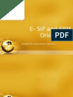 E- SIP and SBM Orientation