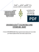 Placard Publicitaire Doctorat LMD 2016-2017
