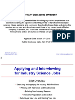 Applying and Interviewing for Industry Science Jobs 040110